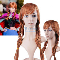 Wholesale cm quot Long Gloved synthetic Remy Human Hair Extensions Tails scroll Anime cosplay wig Colors B6 SV005946