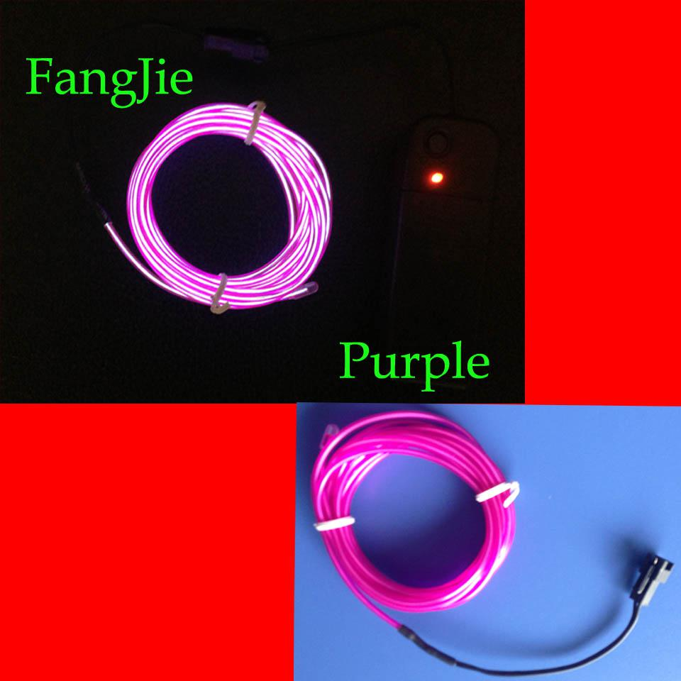 Car Light Decoration 2017 1m El Wire Light Car Decorative Tc Elw Wire Light Strip Line