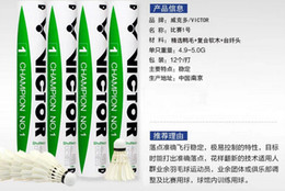 Wholesale Victor CHAMPION NO Badminton Shuttlecock Genuine Guaranteed Shuttlecock High quality Game Balls dozen