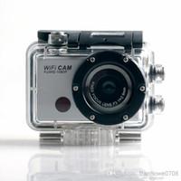 Precio de Camera underwater-¡Venta al por mayor - envío libre !! 5.0MP Full HD 1080P subacuático acción deporte CAM incorporado WiFi DV videocámara WDV5000 cámara impermeable