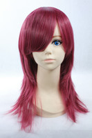 Red Straight Synthetic Hair 45cm Shoulder Long Red Cosplay Wig,Anime Character Luke