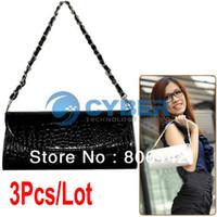 Handbags  new 25 x 6 x 10cm (L x W x H) (Approx) Cheap 3Pcs Lot Designer Lady Clutch Evening Bags Purse For Women Wedding Bag Bridal Party Handbag 2Colors 7412