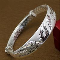 Wholesale Style restoring ancient ways Phoenix bangles Buford bracelet national wind bracelet g m fine silver