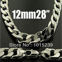 Wholesale Hot Sale Fashion Silver Necklace mm inch Men s Curb Chains Necklace inch cm King Size