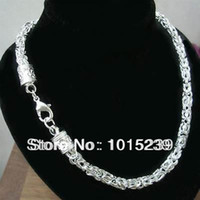 sterling silver jewelry - 2014 new arrival Popular sterling Silver Jewelry Men s Chains fashion Necklace MM inch Hot Sale