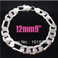 Wholesale NEW arrival mm inch Men s Cool Silver Jewelry Figaro Chains Bracelet Hot Sale