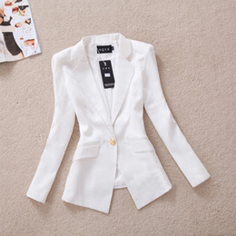 Wholesale HOT Korean blazer feminino Fashion Spring jaqueta Women Blazer Short Desi Collar Blaser suit jacket slim blazer