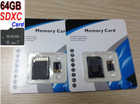 Wholesale 64GB SDXC Class TF Generic No Name Unbranded C10 g Micro SDXC TF MicroSD SD Memory Card Free SD Adapter Blister Retail Package kakacola