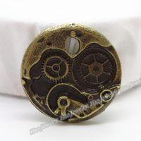 antique metal clock - 20pcs Vintage Charms Clock Pendant Antique bronze Fit Bracelets Necklace DIY Metal Jewelry Making
