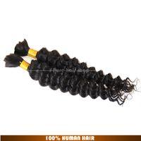 Wholesale Hot Sale Grade a Unprocessed Brazilian Virgin Hair Deep Wave wave human hair bulk for braiding g natural black hair