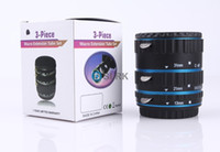 bule aluminum alloy yes Electronic Aluminum Alloy Mount TTL AF Auto Focus Macro Extension Tube for CANON 60D 650D 70D 1DX 1000D PR018 EOS EF EF-S - Blue
