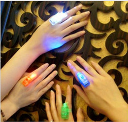Free shipping Dazzling Laser Fingers Beams Party Flash Toys LED Lights Toys 100 pcs lot