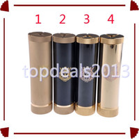 Wholesale WL EC King Brass Mechanical Mod Clone King V2 Battery Mod Fit Tobh Atty Stillare Veritas Hades Atomizer Tank Vaporizer