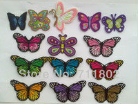 Wholesale Butterfly patches Embroidered Iron On Patch Applique Badge dropship