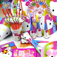 Wholesale hello kity Birthday Decoration Supplies Baby Birthday Party Pack PC