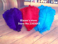 Wholesale prices quot quot inches length purple red turquoise ostrich feathers for wedding decor or table decor red