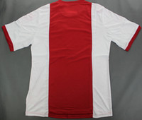 Men thailand football jerseys - Ajax home red white jersey top quality embroidery thailand version football shirt Mix order