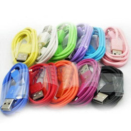 Wholesale New m ft Micro USB Charger Data Sync Cable Cords Charging Colorful Cables for Samsung S5 S4 S3 Note Cell Phone HTC LG Blackberry