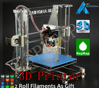 Wholesale 2014 Aurora New Reprap Prusa I3 D Printer D Model Print DIY KIT High Accuracy Acrylic Frame kg Filaments as Gift Z605