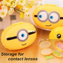 Wholesale 2 Storage box for contact lenses Color contact lens case Travel case NEW novelty zakka gift