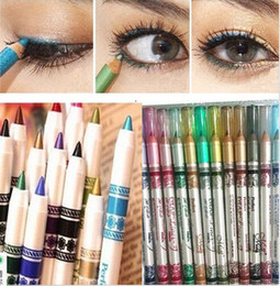 Wholesale 500sets set Colors Glitter Lip liner Eye Shadow Eyeliner Pencil Pen Cosmetic Makeup Set Mix colors