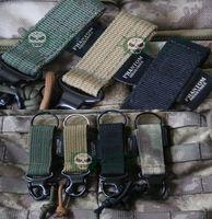 achat en gros de libération des crochets rapides-4pcs / lot tactique militaire tactile militaire libération rapide boucle porte-clés anneau, l'armée Keychain crochet pour le sac à dos de combat ceinture de veste