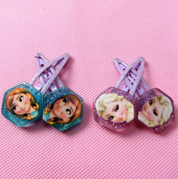 Wholesale frozen Anna elsa Baby BB clips girls hairpins Children Hair clips Headwear cute cartoon doll girls hair accessories kld001