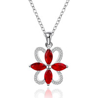 Wholesale Sterling silver Plated GemStone Necklace Jewelry N556