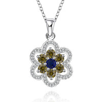 Wholesale Sterling silver Plated GemStone Necklace Jewelry N557