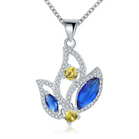 Wholesale Sterling silver Plated GemStone Necklace Jewelry N558
