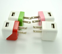 For Samsung Series   New Mini USB US Plug Folding AC Wall Charger Adaptor For iPhone 5 4S 4 3GS Samsung Galaxy S4 Note 2