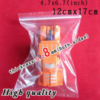 Wholesale 500 Ziplock cmx17cm reclosable plastic bags quot x6 quot ziploc Mil mm both sides Over Stock