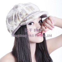 Wholesale BG5665 Really Mink Fur Hat With Peak Autumn Popular Style Women Beret Brown Cap