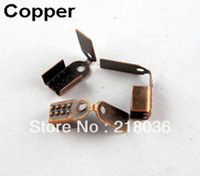 Spacers Jewelry Findings NEW Free Shipping Wholesale Fashion Vintage 700Pcs Copper End Cap For Leather Cord 4x10mm A1803 DIY Metal Jewelry