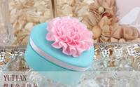 Wholesale 2014 New arrival mmx65mmx32mm lover Heart shaped tin candy box with lotus flower Christmas gift Chocolate Candy Tin Boxes color