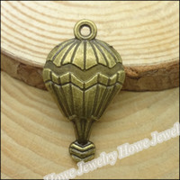 antique hot air balloon - 50 Vintage Charms Hot Air Balloon Pendant Antique bronze Fit Bracelets Necklace DIY Metal Jewelry Making