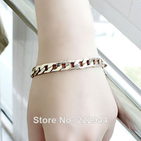 Wholesale New Jewelry Gold Color Loop Chain Punk Style Bracelets amp Bangles For Women