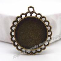 antique metal picture frames - B Vintage Charms Picture frame Pendant Antique bronze Fit Bracelets Necklace DIY Metal Jewelry Making