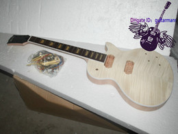 Wholesale Unfinished Electric Guitar Kit With Flamed Maple Top guitar Mahogany Body