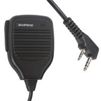 Wholesale Professional Quality Original Handheld BAOFENG UV R Speaker Mic for Dual Band Radio