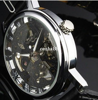 Luxury coupons - Get Coupon Mechanical Mens Gold Tone Skeleton Mechanical Men s Watch Wristwatch Xmas Gift Free Ship