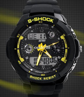 Sport g-shock - New SHOCK dual display sports waterproof watch electronic G LED DIGITAL watches Fashion army military watches men Casual Watches