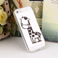 giraffe print - Giraffe Print Iphone Case Clear TPU Silicone Gel Cover Soft Case for iPhone S DH04