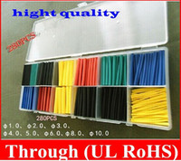 Wholesale High quality Sizes Heat Shrink Tubing Kit FIVE Colors mm mm in box