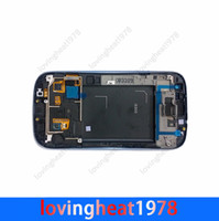 Wholesale 1pcs free hk post shipping LCD Display with frame for SAMSUNG Galaxy S3 Verizon i9300 i535 AT T i747 Sprint L710 T Mobile T999 LCD digitizer
