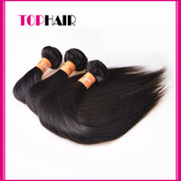 Wholesale Hair Extensions Silky Straight inch kg Remy Human Hair Weave Natural Color Dyeable Virgin Brazilian Malaysian Peruvian Indian