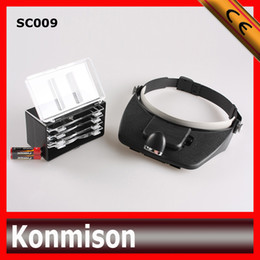 Wholesale Magnifying loupe with light Lenses Magnifier Headset LED Light Lamp Head Band Set x Lighted Magnifying Glass