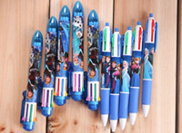 Wholesale Frozen children graffiti stationery ballpoint Elsa Anna cartoon autopen pen markers rollerball Pens students party school supplies colorful