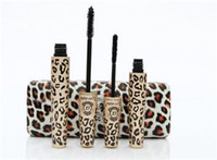 Wholesale 2014 New Waterproof LOVE ALPHA Double Brand Mascara with Panther Leopard Case Set Mascaras Set