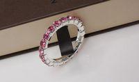 Wholesale row Metal amp pink Rhinestone Napkin Rings Hotel Wedding Supplies
